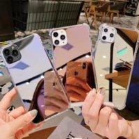 Luxo Clear Maquiagem Mirror Phone Case para iPhone 12 11 Pro Max Xs Max mini Captura de silicone macio à prova de choque para XR X 7 8 6S 6 PLUS SE 2020