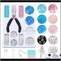 Perlen-Werkzeuge Ein Kristall-Set-Mode-Farbherstellung-Kit-Acryl-Buchstaben-Perlen handgefertigte Handwerkszubehör Schmuck-Erkenntnisse WMTGEX WT7VB Q1RKU