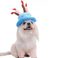 Dog Apparel Creative Arrival Puppy Birthday Cap Hat White Cashmere Dogs Pet Hats Caps With Cake Canddles Design Supplies