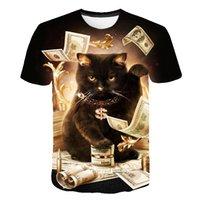 Dog Printed T Shirt Men Women Hip Hop Summer Funnyt Cat Streetwear Tshirt Short Sleeve Tops Casual O-Neck Animal CBT-26