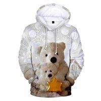 Men's Hoodies & Sweatshirts 3D Printing Women's Hoodie Cute Bear Hooded Sweatshirt Streetwear Autumn Cartoon Casual Boys Girls Pullovers
