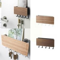 Hooks & Rails Japanese Style Storage Box Key Wall Hook Wood Porch Organizer Sundries Home Wooden Room Hanging Rack J4A5