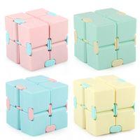 Infinity Cube Candy Color Fidget Puzzle Anti Decompressione Giocattolo Dito Mano Spinner Divertimento Giocattoli per Adulti Bambini ADHD ADHD Stress Sollier Party Regalo