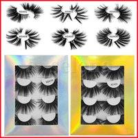 4 Pairs 25mm 3D Vizon Yanlış Kirpikler 100% Kirpik Uzatma 6D Lashes Kalın Uzun Dramatik Göz Kirpik