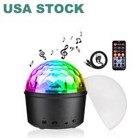 Bluetooth + Głośnik Party Light Efekty LED 9 W Magic Ball Projektor Stage Lights Strobe Club Oświetlenie Mini ze zdalnym połączeniem do dekoracji