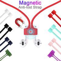 Силиконовые наушники против потерянного шнура Магнитная веревка для AirPods Pro 1 2 3 Мягкая шейная ремешка Xiaomi Huawei
