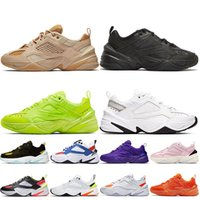Nike M2k Tekno 패션 최고 품질 여성 Mens M2K Tekno 실행 신발 트리플 블랙 오렌지 볼트 퍼플 화이트 Off 베이지 순수 플래티넘 능 직물 데님 트레이너 스니커즈