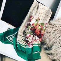 Marka Tasarımcıları Eşarp Yüksek Kalite Ipek Uzun Eşarplar Klasik Atkılar Çiçek Baskı Tasarım Bayan Sarar Boyutu 180x90 cm Hiçbir kutu