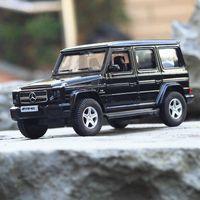 Boîte g63 véhicule hors route givrée black alliage modèle simulation voiture retour sports de retour