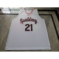 001Rare jersey de basquete homens jovens mulheres vintage # 21 rudy gay arcebispo spalding High School College tamanho s-5xl personalizado todo nome ou número