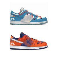 أصدرت أصيلة futura dunk الأحذية الحذاء جريئة برتقالية منخفضة مشرق الأزرق الأبيض unc فلوريدا الرجال النساء في الهواء الطلق سكيت الرياضة رياضية