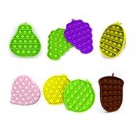 Push bubble sensoriel sensoriel fidget jouets antistress jouet fruits de poire cépages pin pin pin cins autisme a besoin de stress relève enfants cadeau