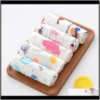 Toalhas vestes 10 pcs baby muslin washcloth algodão gaze infantil rosto toalha nascido lenço lj201026 e5ada ruwks