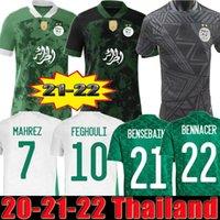 2021 2022 Cezayir Oyuncu Sürüm Hayranları Futbol Forması Ev Uzakta Siyah Speical Mahrez Bounedjah Feghouli Bennacer Atal 20 21 22 Cezayir Maillot De Foot Erkekler Çocuklar