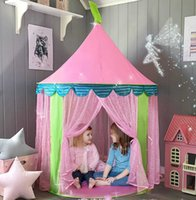 Portable Childrens Tent Tipi Kids Pink Princess Castle for Girls Child Tiny Play House Teepee Cabin Girl Tents Christmas Gift