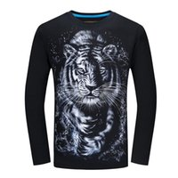 Long Sleeve T-shirt Male Europe And The United States Men's Speed To Sell Big Yards - White Tiger Hoodies & Sweatshirts