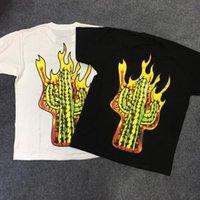 Camisetas para hombre Travis Scot Scot Astroworld Shirt Men Mujeres Stroke My Flaming Cactus Streetwear Camiseta de verano Harajuku Tshirt
