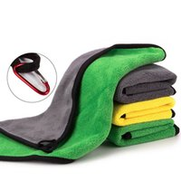 Superfine Fiber Fishing Towel with Carabiner Clothing Thickening Non-stick Absorbent Outdoors Sports Wipe Hands Towels Hiking Equipment