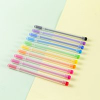 الأقلام Le Xuan C10 الإبداعية محايدة 0.5 طالب إبرة المياه لا يأخذ عشرة لون توقيع القلم