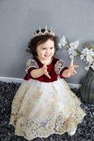 Palace Baby girls Bows 1st birthday party dresses kids stereo phnom penh jacquard gauze princess dress christmas children clothing Q2860