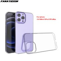 Glossy Slim 1mm Anti-fall Soft Silicone Cases TPU Clear Phone Cover For iphone13 Mini iphone 13 pro Max Transparent Case