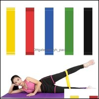 Resistance Equipments Supplies & Outdoorsresistance Bands 5Pcs  Set Exercise Pilates Sports Loop Training Fitness Home Gym Yoga Latex Tensio