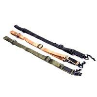 Radfahrenhelme Taktische Nylon Multi-Mission Einstellbare MS2-Gewehr-Schlinge Geißrippe Gurtband Set BK / TAN / OD