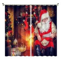 Cortinas cortinas babson chimenea santa decoración 3d impresión digital diy avanzado personalizado