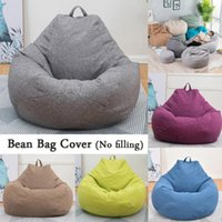 Chair Covers JU Large Bean Bag Chairs Sofa Solid Color Simple Design Indoor Lazy Lounger For Adults Kids No Filling