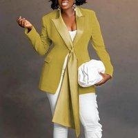 Women's Suits & Blazers Classy Blazer Deep V Neck Notched Riband Long Sleeves Slim Women Autumn Winter Office Lady Work Wear Elegant Fashion