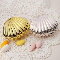 Düğün Favor Kutusu Hediye Paketi DIY Parlak Renkler Kabuk Şekli Parti Malzemeleri Sürpriz Şeker Depolama Teatime Doğum Günü Takı Kılıfı HHE5739