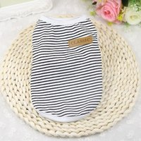 Dog Apparel Summer Cat Clothes Cotton Striped Vest Pet T Shirt Clothing For Outfit Yorkies Chihuahua Pugs