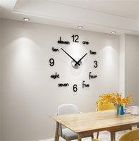 MEISD Qualidad Acrílico Reloj de pared Creativo Diseño moderno Cuartez Pegatinas Reloj Negro Decoración para el hogar Sala de estar Horloge 1267 V2