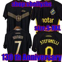 لاعب نسخة 21 22 aik fotboll 130 سنة كرة القدم جيرسي قميص المنزل الأسود الذهبي papagiannopoulos روجيك لارسون TIHI 2021 2022 130th الذكرى