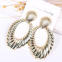 Dangle & Chandelier Bohemian Fashion Women's Drop Earrings Korean Golden Personality Large Simple Punk Jewelry Gift Accesorios