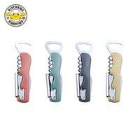 4 in 1 Multifunction Waiter Wine Tool Bottle Opener Lid Corkscrew Knife Pulltap Hinged Corkscrew Wholesale