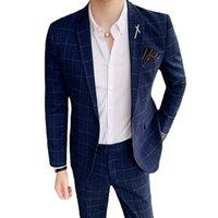 Men's Suits & Blazers Boyfriend stripe suit jacket, formal party suit, fashion, wedding, s-7xl (1 piece)