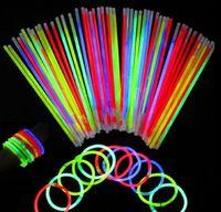 20 см Multi Color Glow Stick браслет ожерелья неоновая вечеринка светодиодный мигающий свет палочка новинка игрушка вокальный концерт вспышка