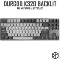 Durgod 87 Corona K320 retroilluminato Keyboard meccanico Cherry MX Interruttori PBT Doppi KeyCaps Brown Blue Black Red Silver Switch