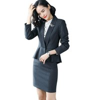 S-4XL Woman Blazer Mode gekerbt Plaid Ruffle Blazer Mantel Büro Dame Jacke Elegante Casual Slim Oberbekleidung R728 Damenanzüge