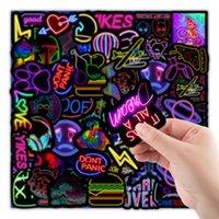 Fingerspielzeug Cartoon Neonlicht Graffiti Aufkleber Auto Gitarre Motorrad Gepäck Koffer DIY Klassische Spielzeug Aufkleber Aufkleber Für Kid Free DHL