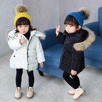 Kleinkind Mädchen Winterkleidung Jungen Daunen Jacken Kinder Mantel mit Pelz dicke Kapuzenmäntel Baby Parkas Mädchen Schneeanzug Kinder Outfits
