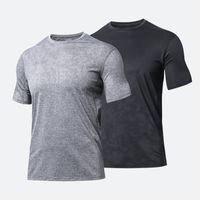 Designer Lulu Mens Gym Esportes Camisetas Manga Curta Malha Yoga Camisa Top Top Topes Desgaste Lu Align Fitness Fitness Treinados Workout Homens Boack Branco Cinza