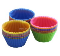 24 Pack Reusable Baking Molds Heat Resistant Nonstick 100% Food Grade Approved Silicone Cupcake Linersx69g