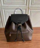 Montsoris Rucksack PM BB Designer Womens Mini Bag Vintage Leder Handtasche Designer Luxurys Tag Packs Griff Geldbörse Geldbörsen M45501 M45516