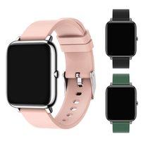 P22 스마트 시계 방수 여성 시계 피트니스 트래커 팔찌 심박 모니터 슬립 호출 / 메시지 알림 스포츠 남자 블루투스 Smartwatch 안드로이드 iOS 전화