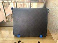 Chegada de alta qualidade Chegada Famoso Classic Moda Homens Messenger Sacos Cross Body Bag Bookbag da escola deve 866 ombro azul