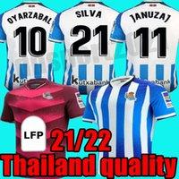 Novo Real Sociedad Soccer Jerseys 21 22 Copa del Rey Willian J. Silva Oyarzabal Jersey Zubeldia Merino Isak Camiseta de Txuri-Urdin Homem Rápido Dreiro Mangas