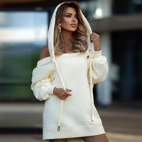 Элегантная напечатанная полая толстовка с капюшоном зимняя теплая теплый пуловер Top Sexy без бретелек ультра Далянь капюшона женские толстовки SWE