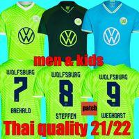 أعلى جودة التايلاندية 2021 2022 Vfl Wolfsburg Soccer Jersey Home 21 22 Ginczek Steffen Away Mbabu Brooks Arnold Whaghorst 3rd كرة القدم قمصان موحدة
